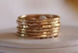14K Gold Filled Stackable Rings - wedding bands - SEVEN rings
