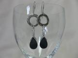 Blue Teardrop Shell Earrings