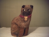 SALE FREE SHIPPING Handpainted Stuffed Dog
