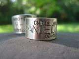 Custom Duck, Goose Band Ring . sterling . finger sz 6 - 9.5