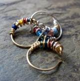 bejeweled-- custom nose ring or single hoop