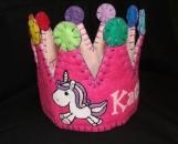 Unicorn Horse Felt Party Crown