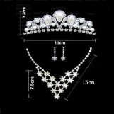 Bridal pearls set with necklace, earrings and crown