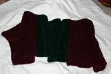 Red and Green Christmas Scarf