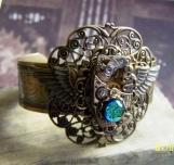 Victorian Style Cuff Bracelet VintageSteamPunk Exclusive Design