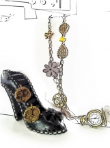 Antique brass-plated Necklace Watch