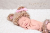 Crocheted Baby Bear Newborn Beanie with Matching Diaper Cover