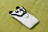 Hand Crochet Panda iPhone Sleeve iPod Case handmade iphone