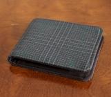 Mens 5 Pocket Billfold Wallet in Plaid Wool Suit