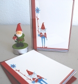 Gnome & Flower (box set of 10 note cards)