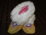 Handbeaded slipper/moccasin