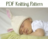Boston Beanies Knit Baby Bunny Hat pattern