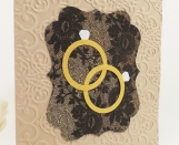 Lesbian Wedding Card Rings - Lace