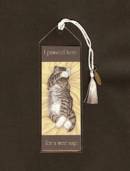 Handmade Cozy Kitten Bookmark by SavageArtworks