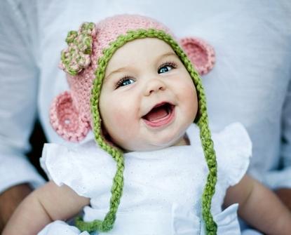 Organic Cotton Mini monkey Hand-Knit Hat by CiteFuzz