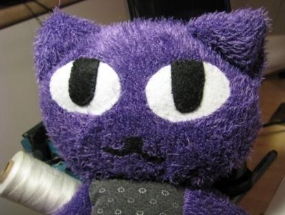 Handmade Toy - Purple Mystery Kitty by CutnessAddiction