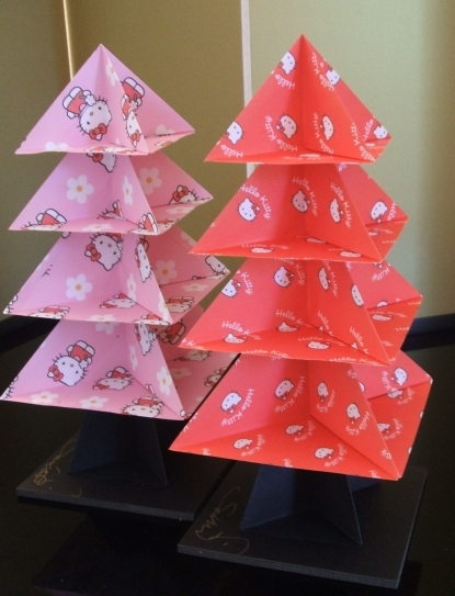 Hello Kitty Origami Tree