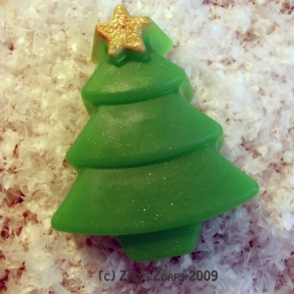 Handmade Christmas Tree Soap - Fresh Forest Scent