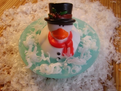 Handmade Snowman Duck Pond Soap