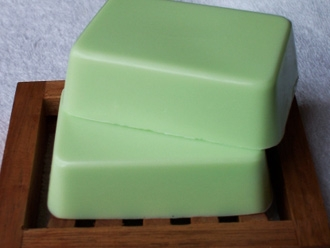 Cool Mango Melon Goat Milk Soap.