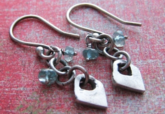 Handmade Peaceful Heart earrings.