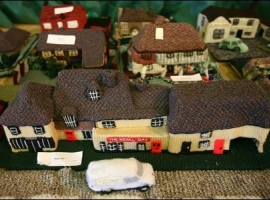Knitted Village by ladies from England.