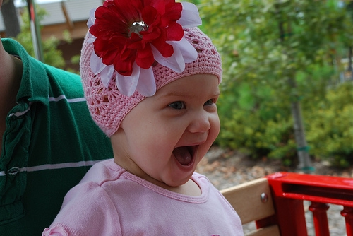Layla Grace smiling.