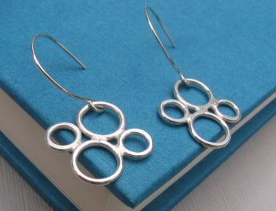 Sterling Silver Earrings - Tiny Bubbles