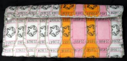 White Orange Pink Raffle Ticket WALLET