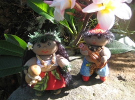 Miniature Dolls, Ipu and Kahiki.