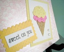 Sweet On You - Romantic Handmade Card