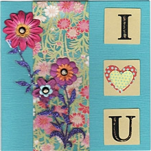 """I Heart You"" Card for Valentine's Day."