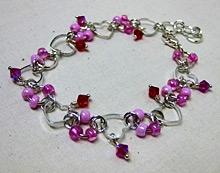 Sweetheart Pink Charm Bracelet