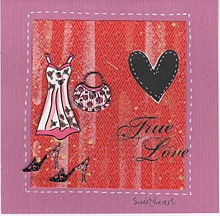 True Love Sweetheart - Handmade Card for Valentine's Day.