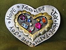 Heart Pewter Handmade Brooch Brooch