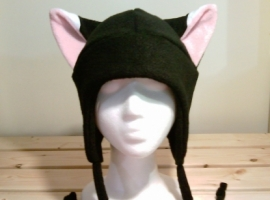 Black fox snowboarding hat