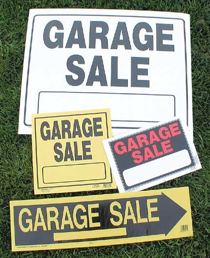 Halloween Garage Sale Signs