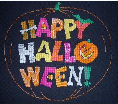 Happy Halloween Crossstich from iCraft shop Ladybug Designs.