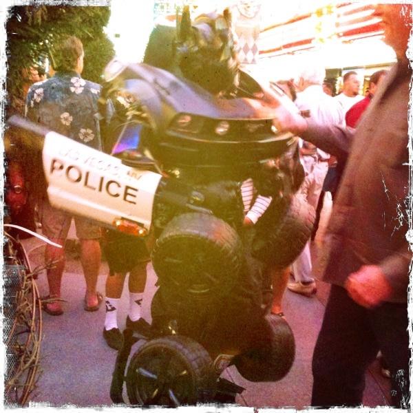 Police car Transformer costume