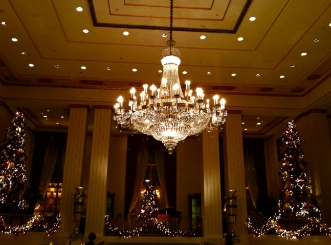 Waldorf=Astoria Lobby at Christmastime