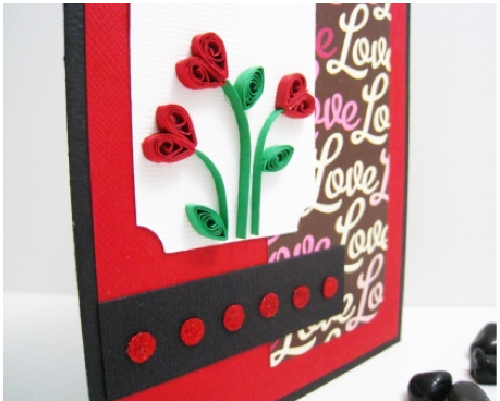 Rose card for Valentine's Day