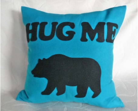 """Hug Me"" Pillow for men- gift"