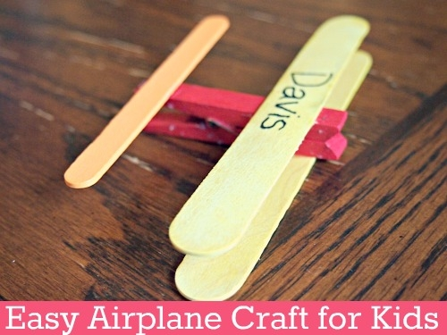 Easy Airplane Craft For Kids Icraftgifts Com Blog