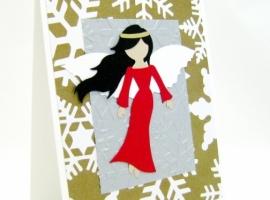 Snowflake Angel Handmade Card.