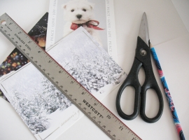 Greeting Cards, pencil, ruler and scissors is all that you will need