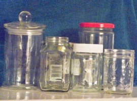 bottles and jars for organization and storage