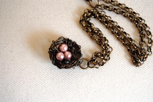 birdnest necklace