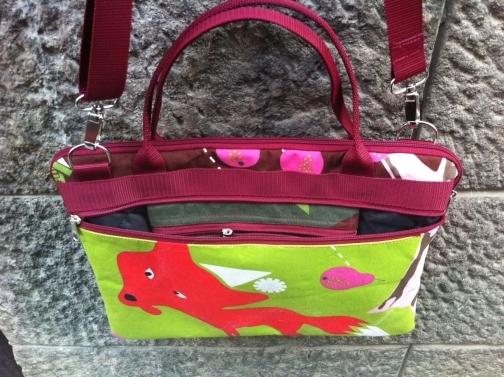 fox and rabbit laptop bag