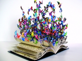 Book Art, Butterflies.