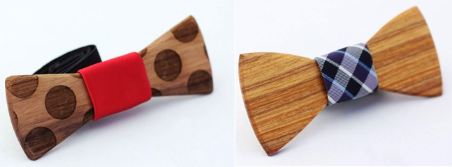 Bow Ties From Reclaimed Wood.